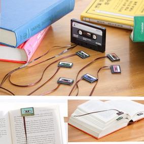 Separador O Bookmark Imán Para Libro Retro Casetes Cassettes