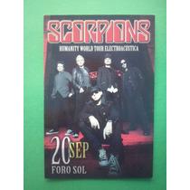 Scorpions Postal Oficial Promo Humanity Tour Foro Sol 2008
