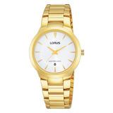 Reloj Lorus By Seiko Rh760ax9 Dama Analogico Dorado