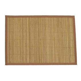 Bamboomn Marca - Bambú Listón Mantel Con Tela De Brown Fron
