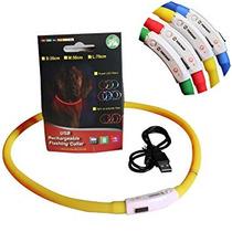 Led Collar De Perro, Recargable Light-up Yokkao® Usb Respla