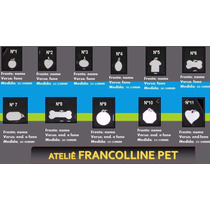50 Placas Identificação Para Cães +25mt Corrente+100 Fechos