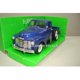 Chevrolet 3100 Pick Up 1953 - Sapo Azul - Welly 1/24