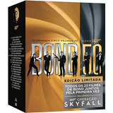 Box Dvd Coleção James Bond 007 +007 Operação Skyfall-23 Dvds