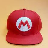 Boné Chapéu Super Mario Bros Vermelho Nintendo Gamer Cosplay