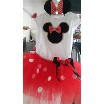 Fantasia Minnie Vermelha, Rosa Bebe E Pink