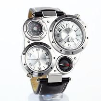 Reloj Oulm Luxury Militar Con Termometro Y Brujula