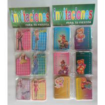 Invitaciones X20und Barbie Y Ositos Tarjetas Infantiles