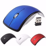Mouse Dobrável Fino Sem Fio Wireless 2.4 Ghz Usb Notebook Pc