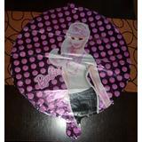 10 Globos Metalilzados Barbie 45 Cm De Diametro Sin Soportes