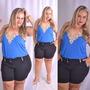 Bermuda Feminina Plus Size Short Colorido