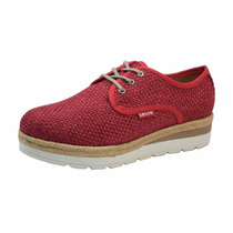 Zapato Levi´s Aldara Dama Mujer Rojo Calzado Rudos