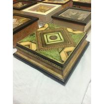 Caja Artesanal Madera Decoupage 3d Contracolado Ef Marmol