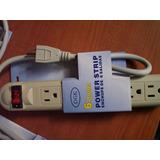 Regleta Electrica Standard Con 6 Tomas De Corriente Y Switch