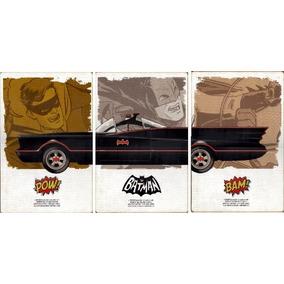 Batman Batimovil 1966 Cuadro De Madera Extra Grande
