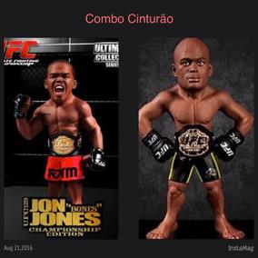 Combo Bonecos Ufc C/ Cinturão Jon Jones+anderson Silva Novos