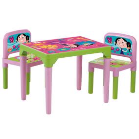Mesa Show Da Luna Mesinha Infantil C/ 2 Cadeiras Estudo