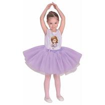 Disfraz Sofia Bailarina Con Licencia Disney Talle 2 6/8 Años