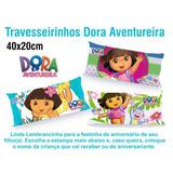 30 Travesseiros Almofada Lembrancinha 40x20 Dora Aventureira
