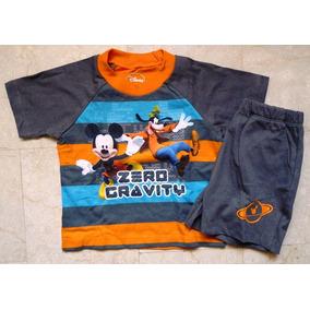 Mickey Mouse Conjunto Sweater Franela Import Original