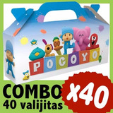 Pocoyo Bolsita Cajita Valijita Souvenir Infantil Combo X 40
