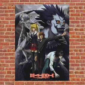 Poster Quadro Em Madeira Death Note Anime
