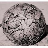 Esfera Arte Hormigón Concreto Estampado Marca De Simón 30 Cm