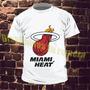 Remera Basquet Nba Miami Heat Estampa Hoja A3!!!