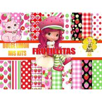 Kit Imprimible Papeles Digitales Frutillitas Y Mas!!!!