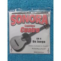 Juego Cuerdas Sonora Para Cuatro Venezolano 4 Cuerdas U S A