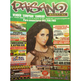 Paola Nuñez Revista Paisano Usa
