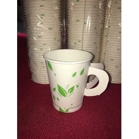 Vaso Para Café Biodegradable De Papel Con Asa 8 Oz