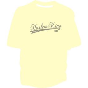 Remeras De Algodon Estilo Skate Harlem King