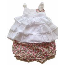 Conjuntos Em Tecido Tricoline E Algodão. Vestem De 1-3 Anos