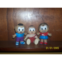Boneca Lote Com 3 Miniaturas Turma Da Mônica Cascão Borracha