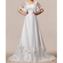 Vestido E Noiva Em Organza - Manequins 40/44- Envio Imediato