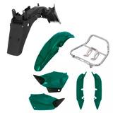 Kit Plástico + Alça P/ Honda Titan Cg 125 Ano 2002 Verde