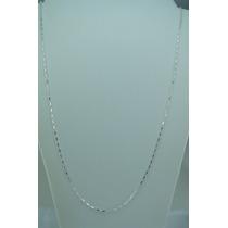 Corrente Cadeado Masculina 70cm Prata 925 + Frete Grátis