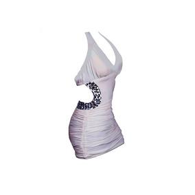 Vestido Corto, Piedras Y Espalda Descubierta, Brishka M-0003