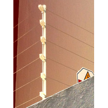 Poste Para Cerca Electrica C/6 Aisladores De Esquina O Paso