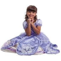 Fantasia Princesa Sofia Vestido Longo Original Disney Luxo G