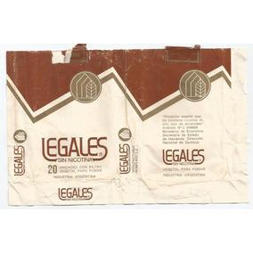 Marquilla Cigarrillos Legales Sin Nicotina Argentina 1980