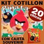 Angry Birds Kit Premium Piñata Combo Cajita Souvenir X 20