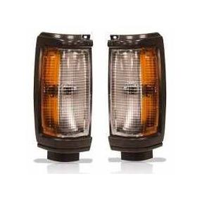 Par Lanterna Dianteir L200 Quadrada Gl/gls Moldura Aro Preto