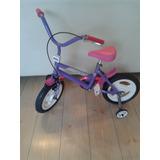 Bicicleta Infantil Rodado 12 Niña Nena 2 A 4 Años C/rueditas
