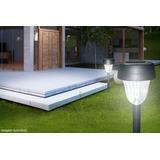 Luminária Solar Abs Luz Led Decorativa Jardim Gramado Kit 14