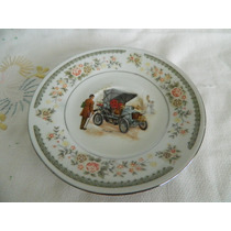 Plato Decorado (fiat 1901) De Loza China D: 15 Cm