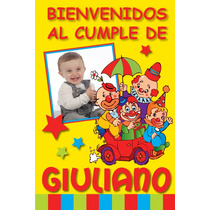 Cartel Personalizado Bienvenidos/feliz Cumple C/foto Oferta!
