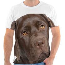 Camiseta Cachorro Labrador Marrom - Masculina E Feminina