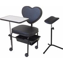 Cadeira Cirandinha Manicure Mod. Love + Suporte Tripé